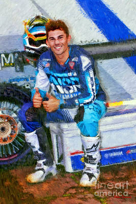 Photograph - 69 Colt Nichols 250 Surpercross by Blake Richards