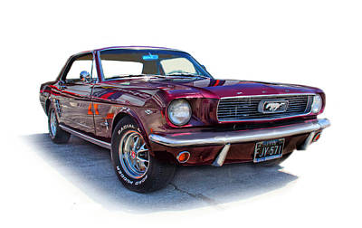 69 Ford Mustang Original by Mamie Thornbrue