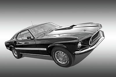 69 Mach1 In Black And White Art Print
