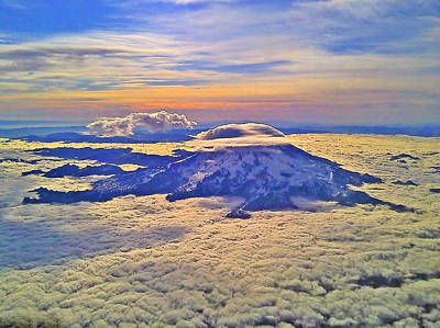 Photograph - #69 Mt Rainier Sunrise by Jack Moskovita