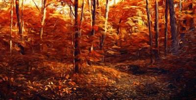 Park Painting - Nature Landscape Artwork by Margaret J Rocha
