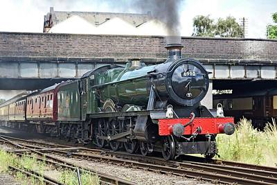 Photograph - 6990 Witherslack Hall Departing Loughborough by David Birchall