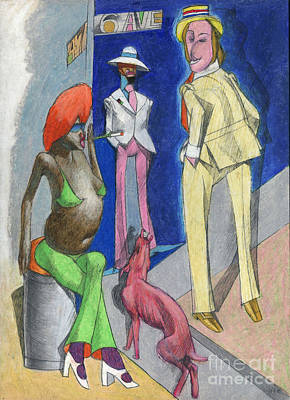 Prostitution Drawing - 6th Avenue 2 by Edward Henrion