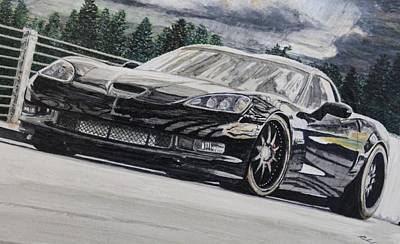 Miguel Art Drawing - 6th Gen Z06 Vette by Roland Miguel