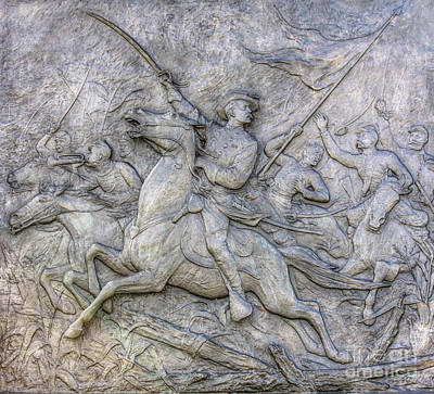 Digital Art - 6th New York Cavalry Detail Gettysburg by Randy Steele