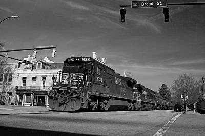Photograph - 6th Street In Black And White by Joseph C Hinson Photography