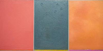 Art Print featuring the painting  Triptic Oil On Canvas 24x36 by Radoslaw Zipper