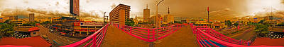 Photograph - 6x1 Philippines Number 314 Overpass Panorama by Rolf Bertram