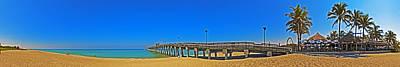 Venice Beach Wall Art - Photograph - 6x1 Venice Florida Beach Pier by Rolf Bertram