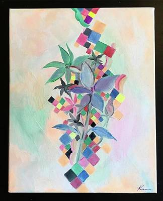 Contemporary Painting -  Perfume, Abstract Art Print by Kanako Kumamaru