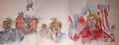 2016 Presidential Campaign  Album  Art Print by Debbi Saccomanno Chan