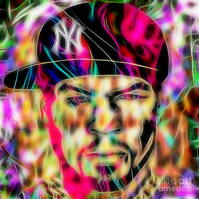 Rapper Mixed Media - 50 Cent Collection by Marvin Blaine