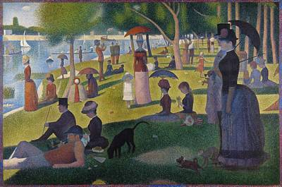 Puppies Painting - A Sunday On La Grande Jatte by Georges Seurat