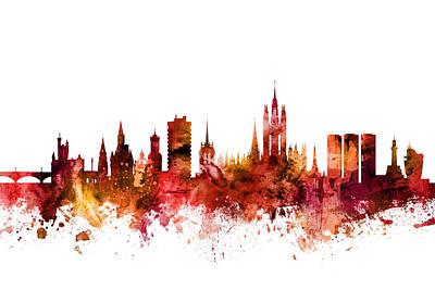 Digital Art - Aberdeen Scotland Skyline by Michael Tompsett