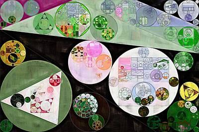 Abstract Composition Digital Art - Abstract Painting - Dark Jungle Green by Vitaliy Gladkiy