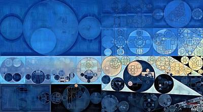 Ornamental Digital Art - Abstract Painting - Oxford Blue by Vitaliy Gladkiy