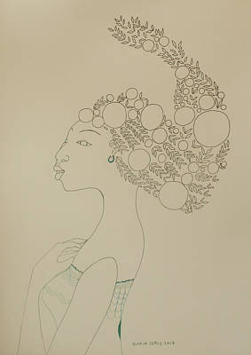 African Queen Art Print by Gloria Ssali
