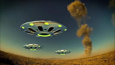 Alien Invasion By Raphael Terra Art Print