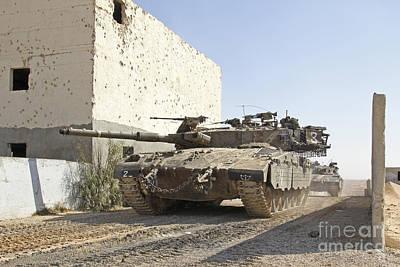 Battle Tank Photograph - An Israel Defense Force Merkava Mark II by Ofer Zidon