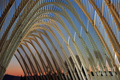 Sundown Photograph - Archway In Olympic Stadium In Athens by George Atsametakis