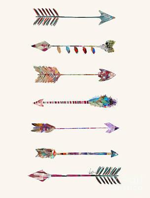 Painting - 7 Arrows by Bleu Bri
