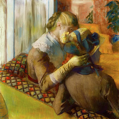 Milliner Painting - At The Milliner's by Edgar Degas