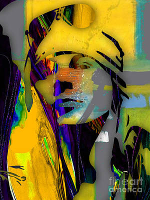 Rock N Roll Mixed Media - Axl Rose Collection by Marvin Blaine