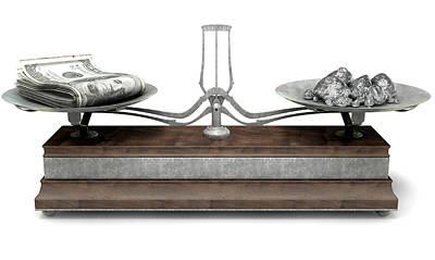 Weigh Digital Art - Balance Scale Comparison by Allan Swart