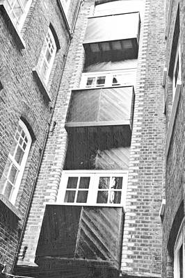 Black Commerce Photograph - Balconies by Tom Gowanlock