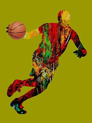 Mixed Media - Basketball Collection by Marvin Blaine
