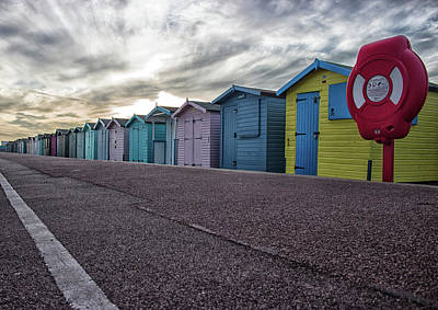 Beers On Tap - Beach Huts by Martin Newman