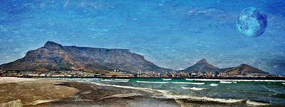 Photograph - Beach With Table Mountain by Werner Lehmann
