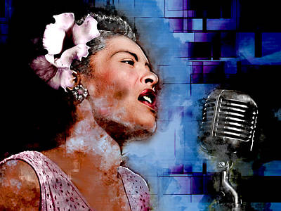Mixed Media - Billie Holiday by Marvin Blaine