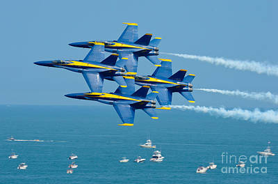 Us Navy Painting - Blue Angels by Celestial Images