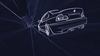 Bmw M3 E46  Art Print
