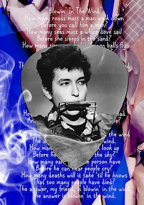 Bob Dylan Art Original by Marvin Blaine