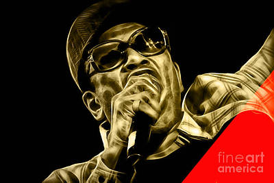 R Mixed Media - Bobby Womack Collection by Marvin Blaine