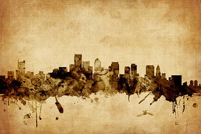 Boston Skyline Digital Art - Boston Massachusetts Skyline by Michael Tompsett
