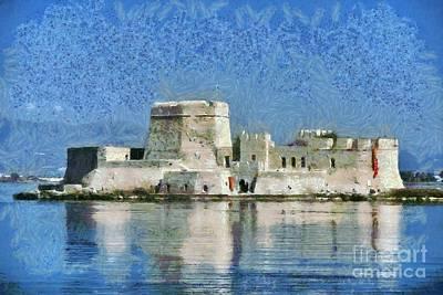 Painting - Bourtzi Fortress by George Atsametakis