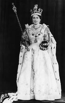 British Royalty. Queen Elizabeth II Art Print