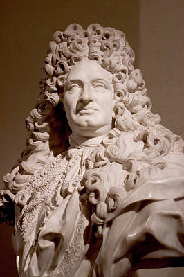 Photograph - Bust Of The King Louis Xiv by Carl Purcell