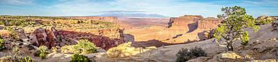 Pop Art - Canyon Badlands And Colorado Rockies Lanadscape by Alex Grichenko