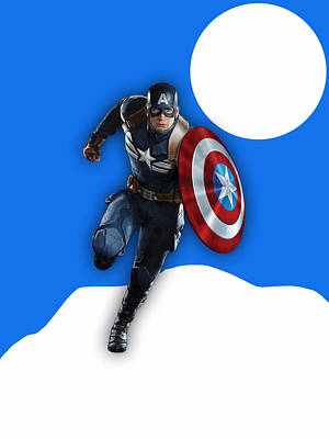 Captain America Collection Art Print by Marvin Blaine