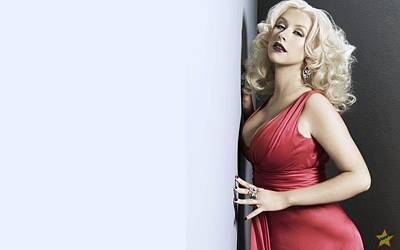 Christina Digital Art - Celebrity Christina Aguilera                    by F S