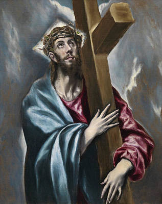 Via Dolorosa Painting - Christ Carrying The Cross by El Greco