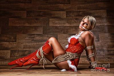 Bondage Photograph - Christmas Babe - Fine Art Of Bondage by Rod Meier