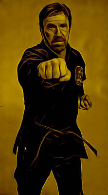 Chuck Norris Mixed Media - Chuck Norris Collection by Martial Arts  Fine Art
