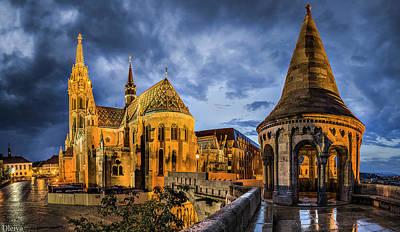 Landmark Digital Art - Church by Super Lovely