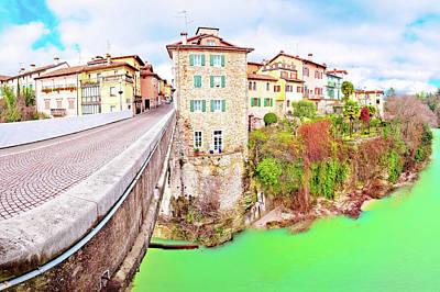 Photograph - Cividale Del Friuli Devil's Bridge And Natisone River Canyon Pan by Brch Photography