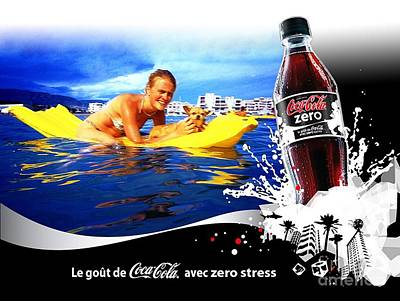 Soda Drawing - Coca Cola by Coke
